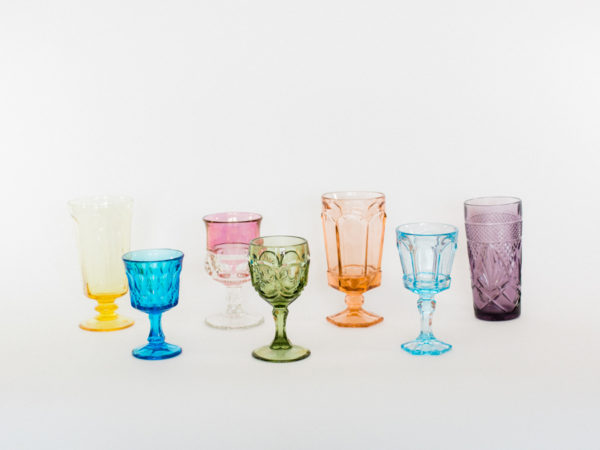Clear Colored Goblets