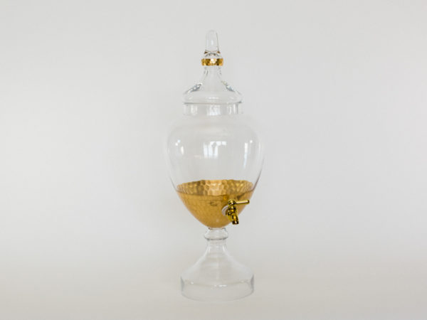 Clear Gold Drink Dispenser