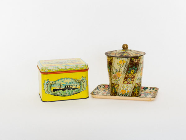 Floral Trays and Small Tins