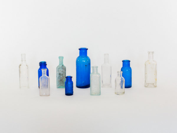 Clear and Colored Medicine Bottles