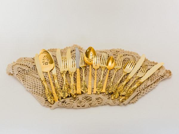 Vintage Gold Flatware