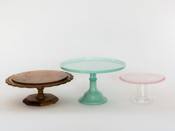 Wood and Colored Cake Stands