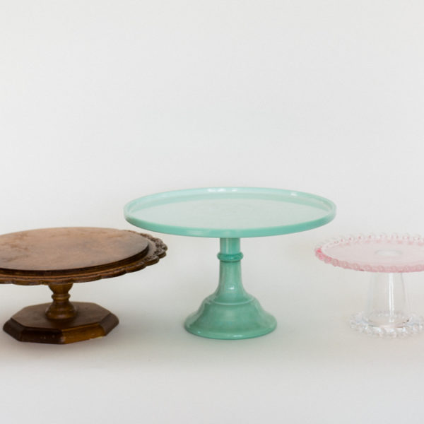 colored cake stands