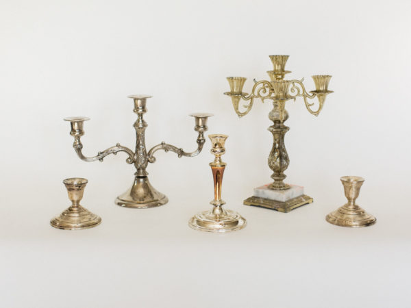 Gold and Silver Candelabras