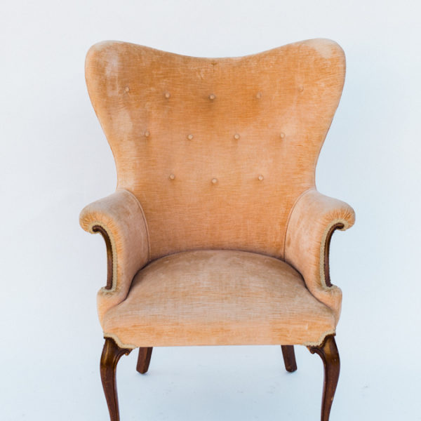peach chair
