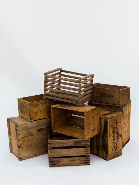 Large and Small Wood Crates
