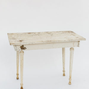 white rustic table