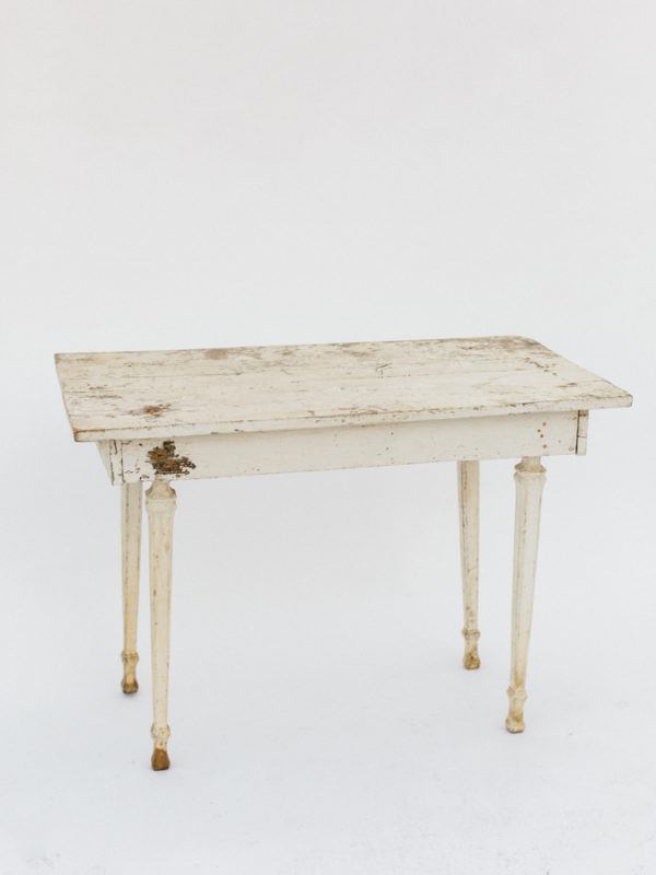 Rustic White Small Table