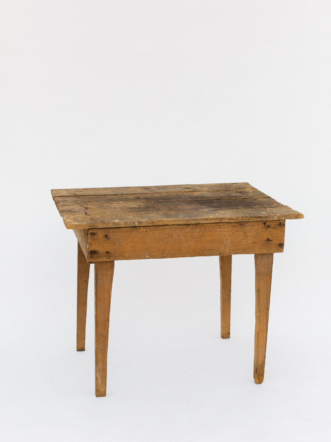 Beau Rustic Wood Small Table
