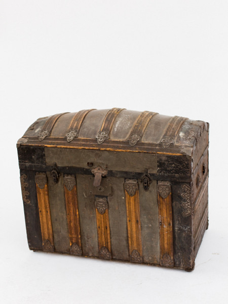 Vintage Trunk with Round Top