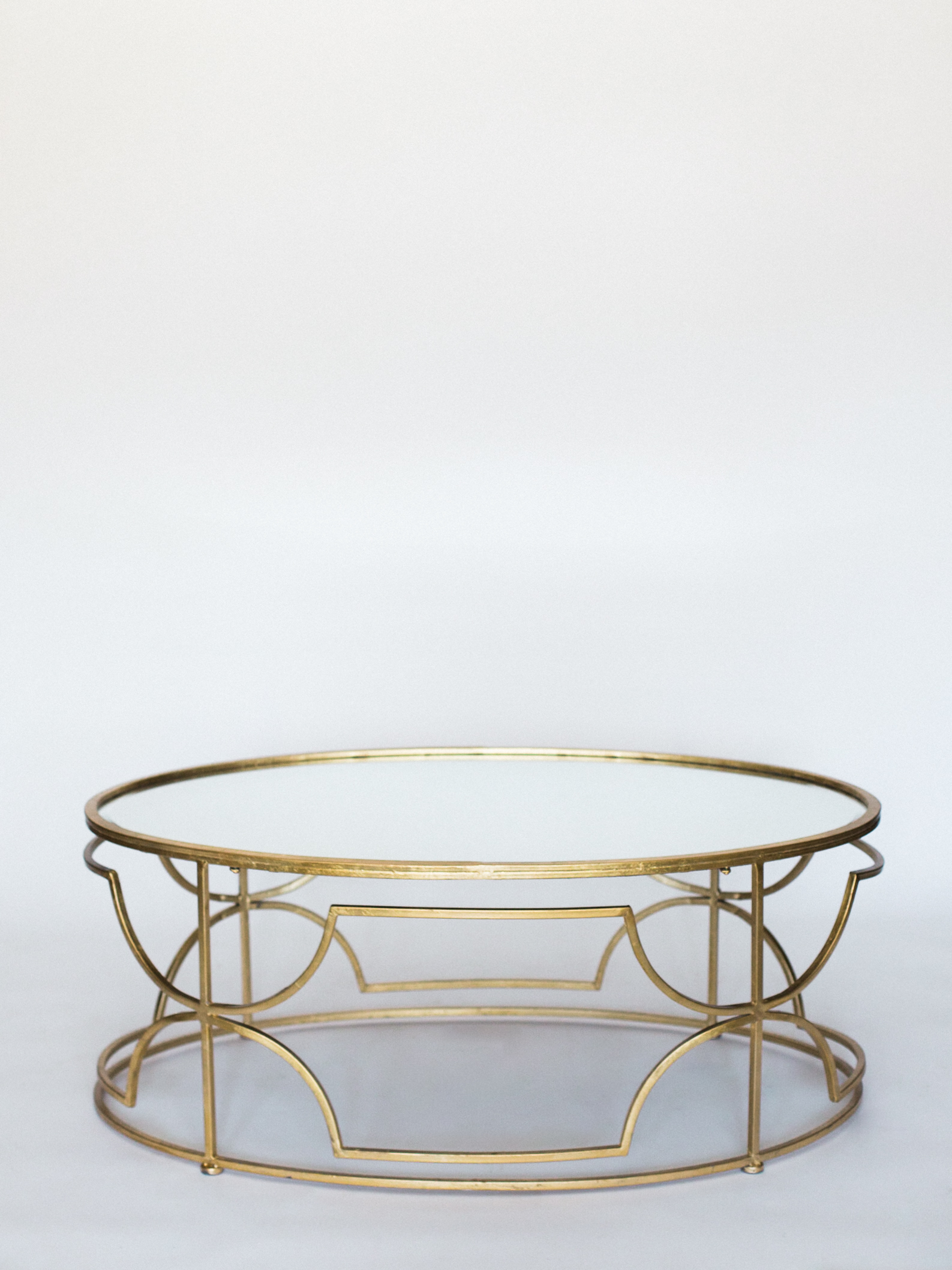 gold mirror coffee table