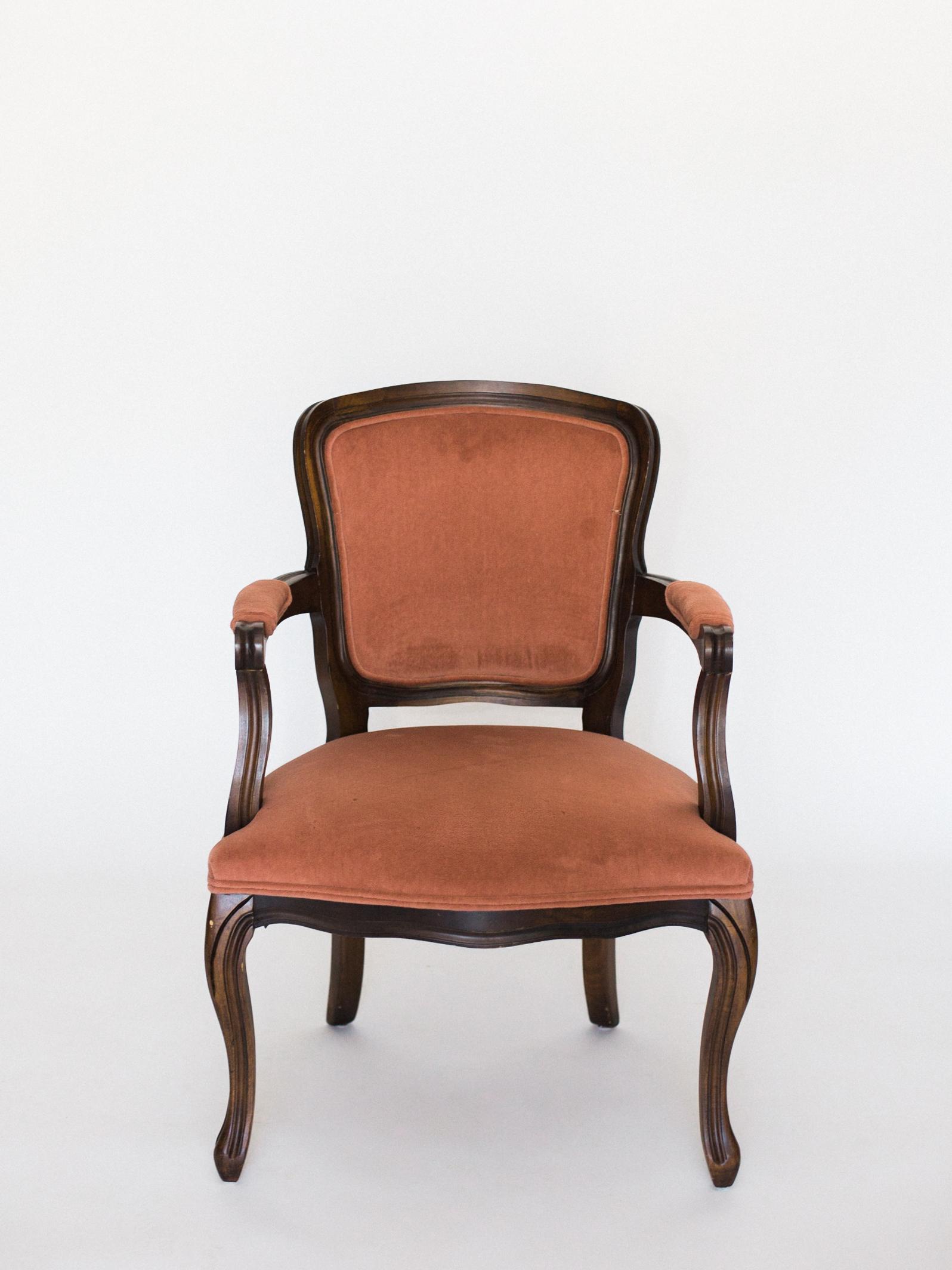 blush velvet chair