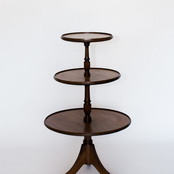 wood tiered table