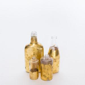 gold foil bottles