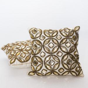gold sequin pillows