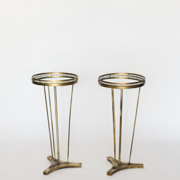 gold mirror side tables