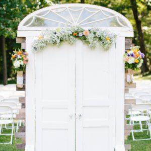 white door backdrop