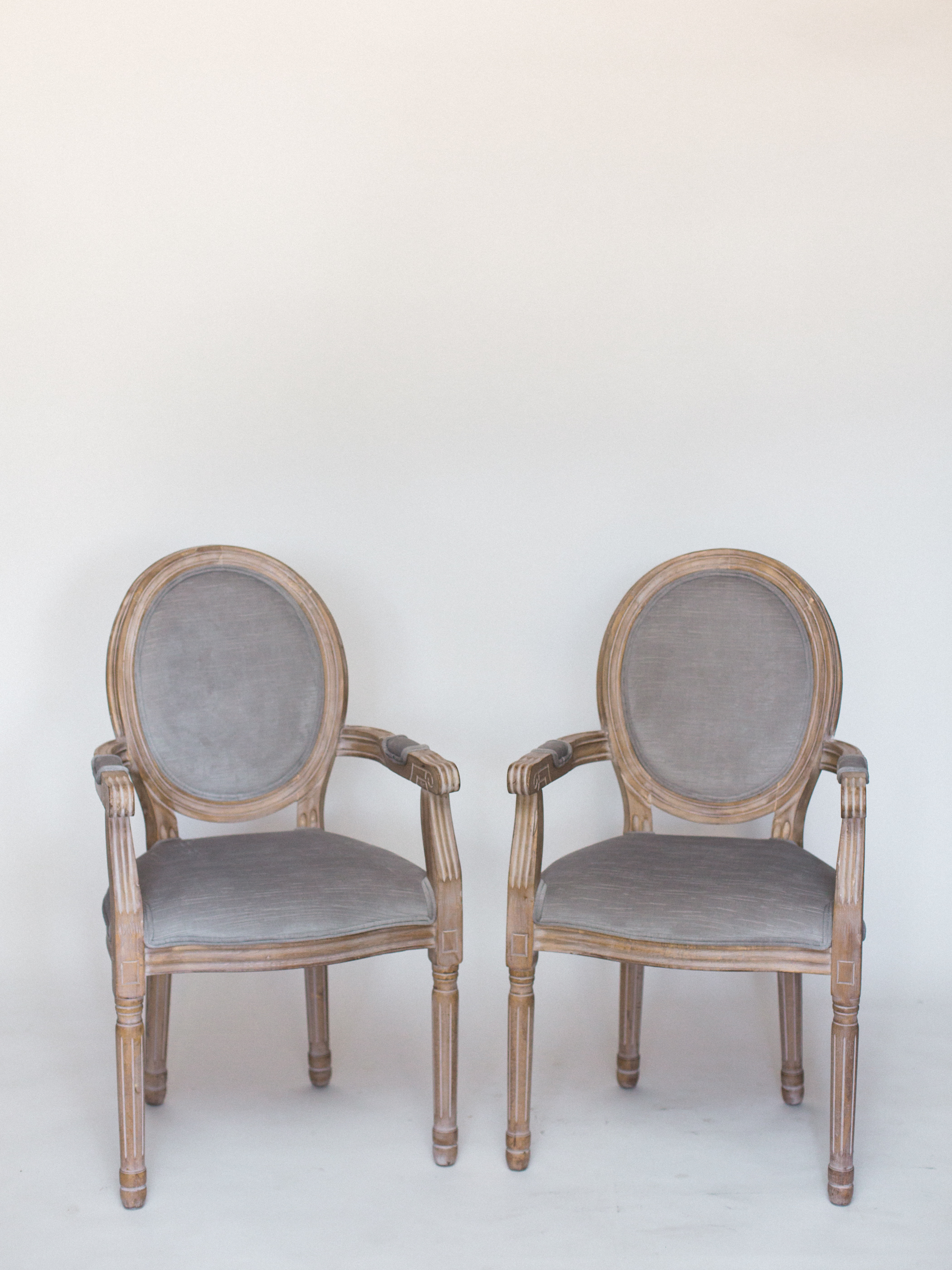 gray velvet chairs