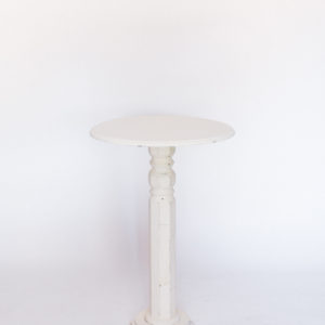 tall white table