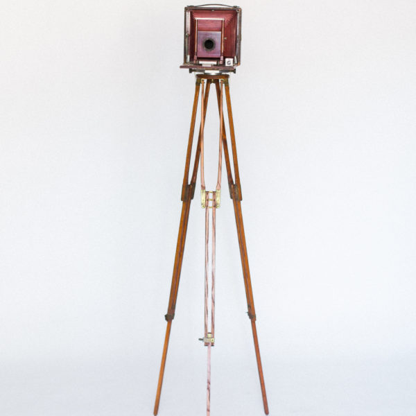 vintage camera and tripod