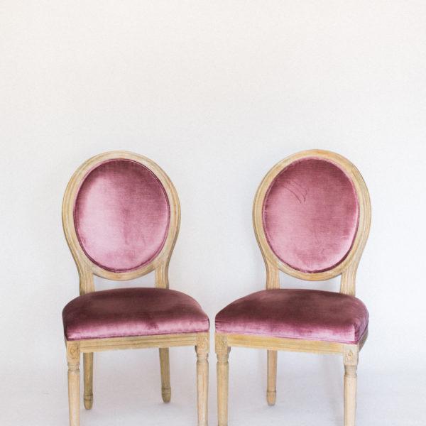 pink velvet chairs
