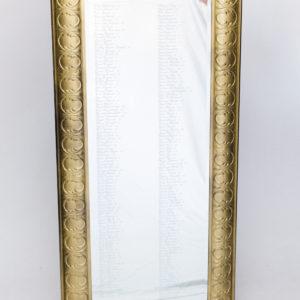 tall gold floor mirror