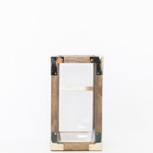 square gold lantern