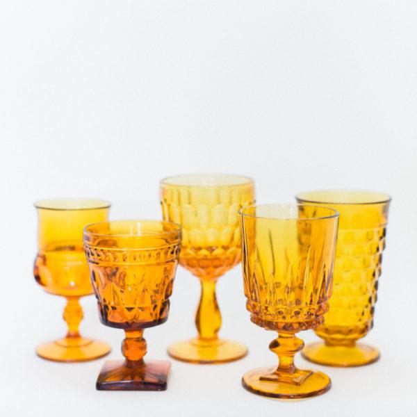 amber goblets