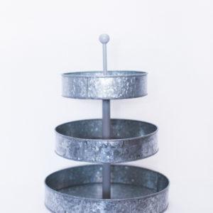 galvanized cupcake display