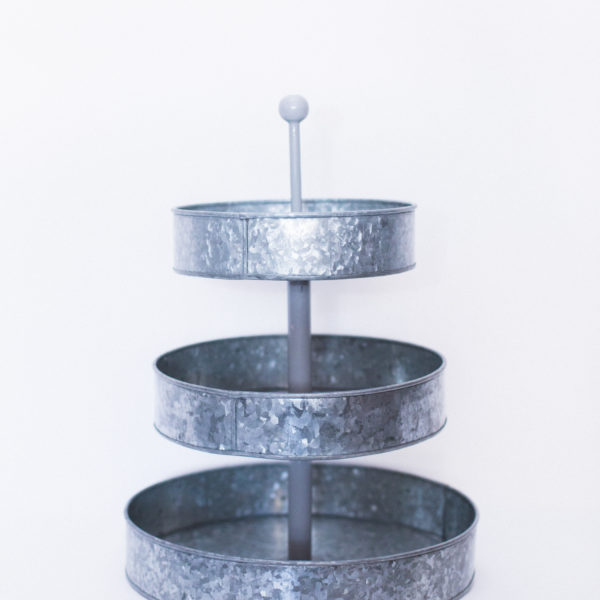 galvanized cupcake display