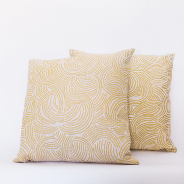 gold swirl pillows