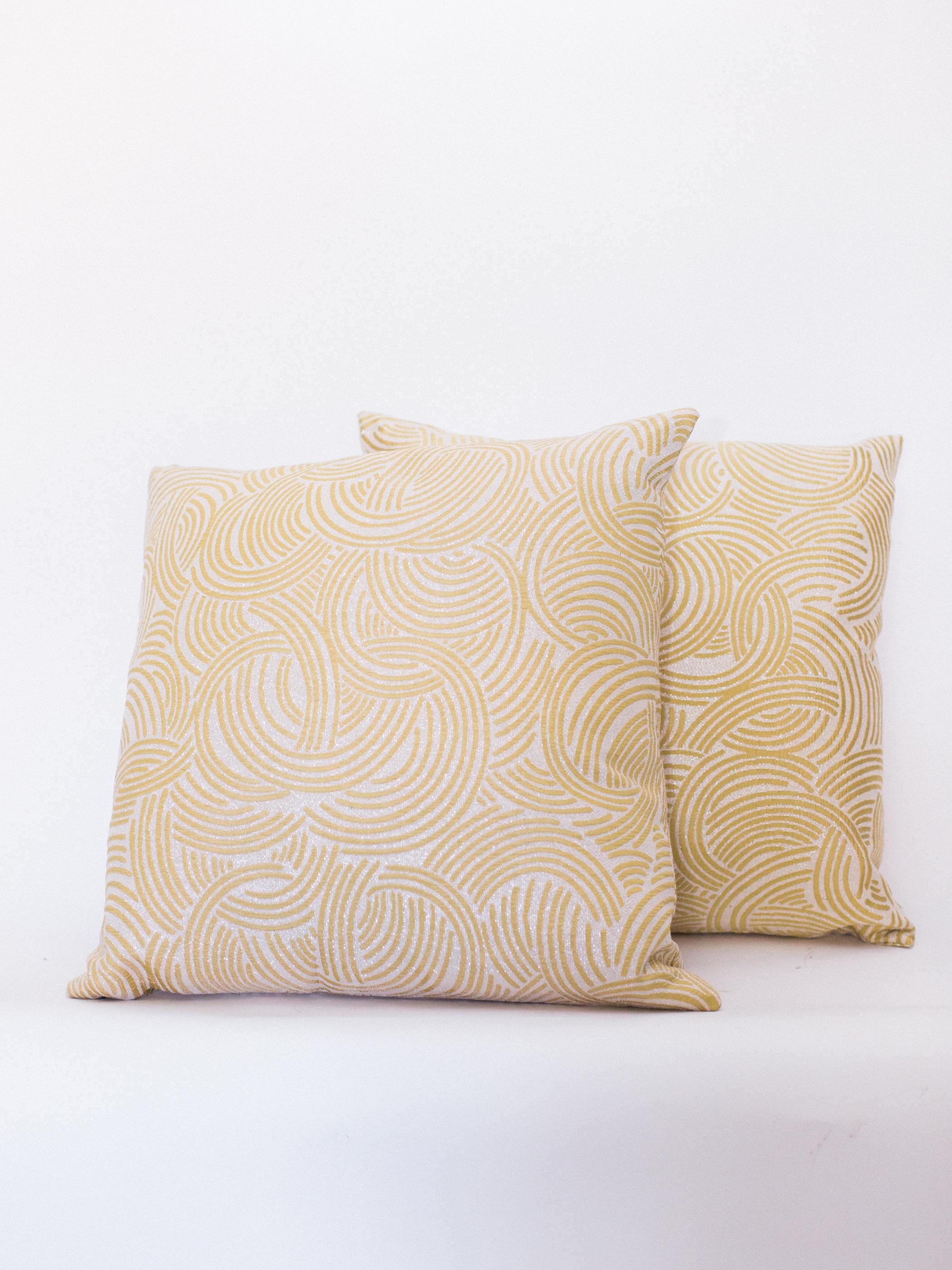 gold swirl pillows