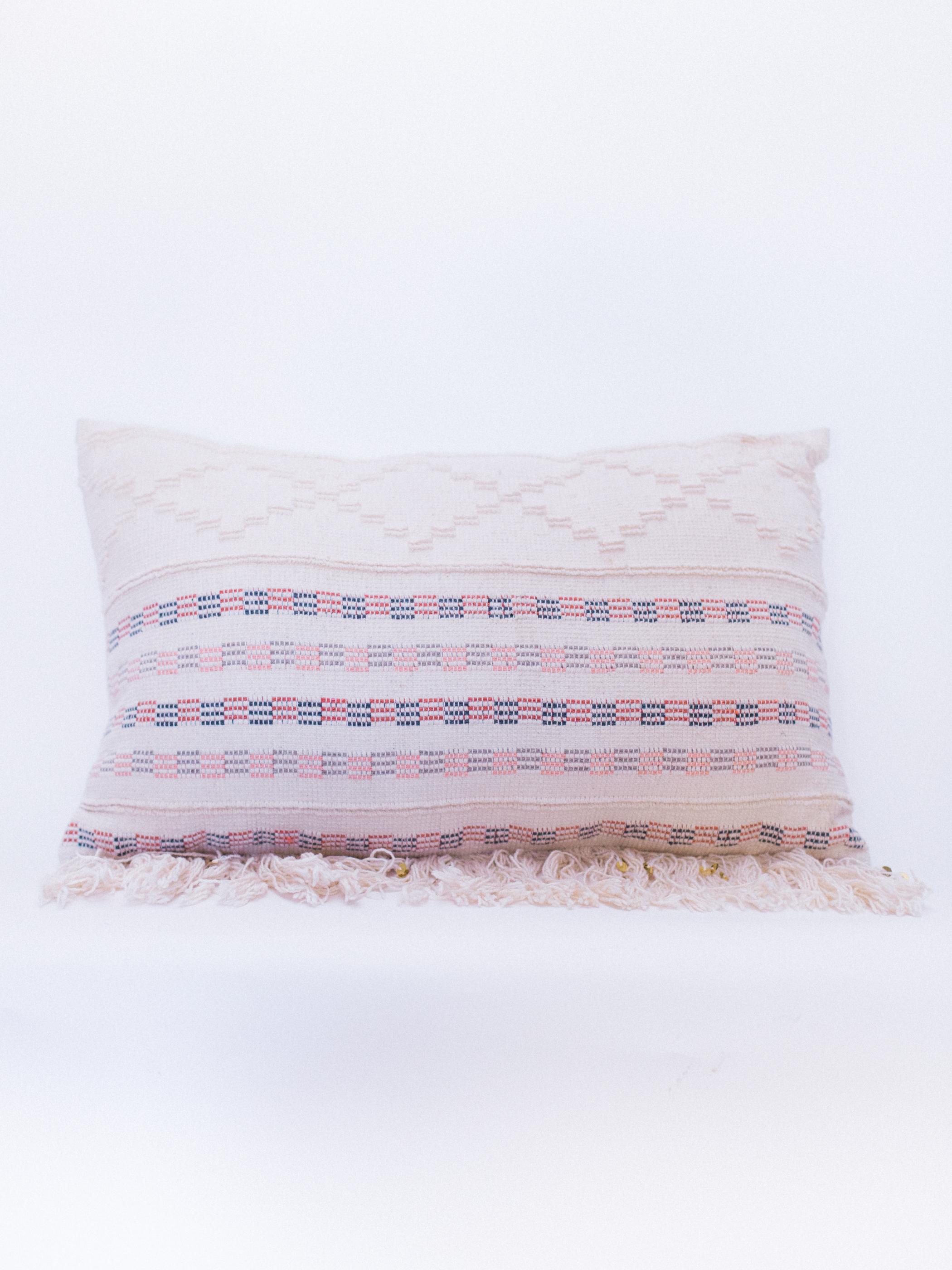 pink boho pillow