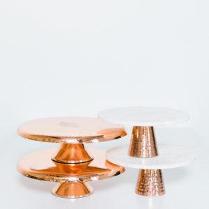 copper cake stands