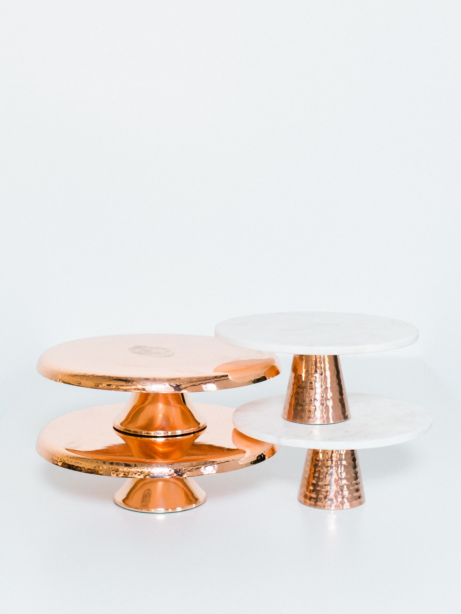 copper cake stands