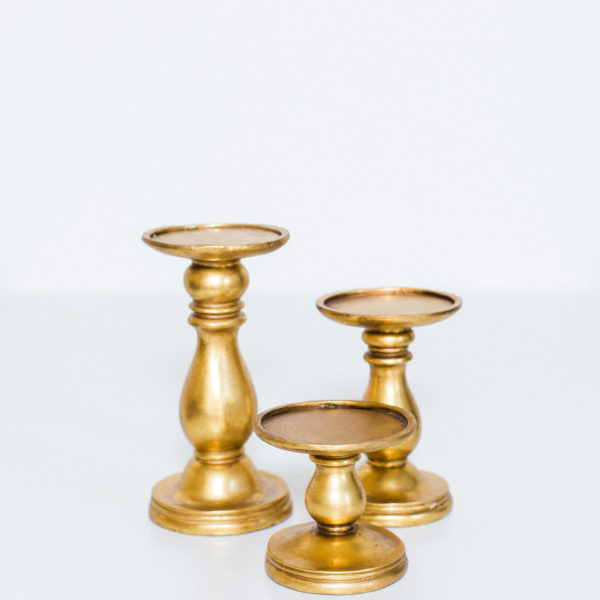 chunky gold candlesticks