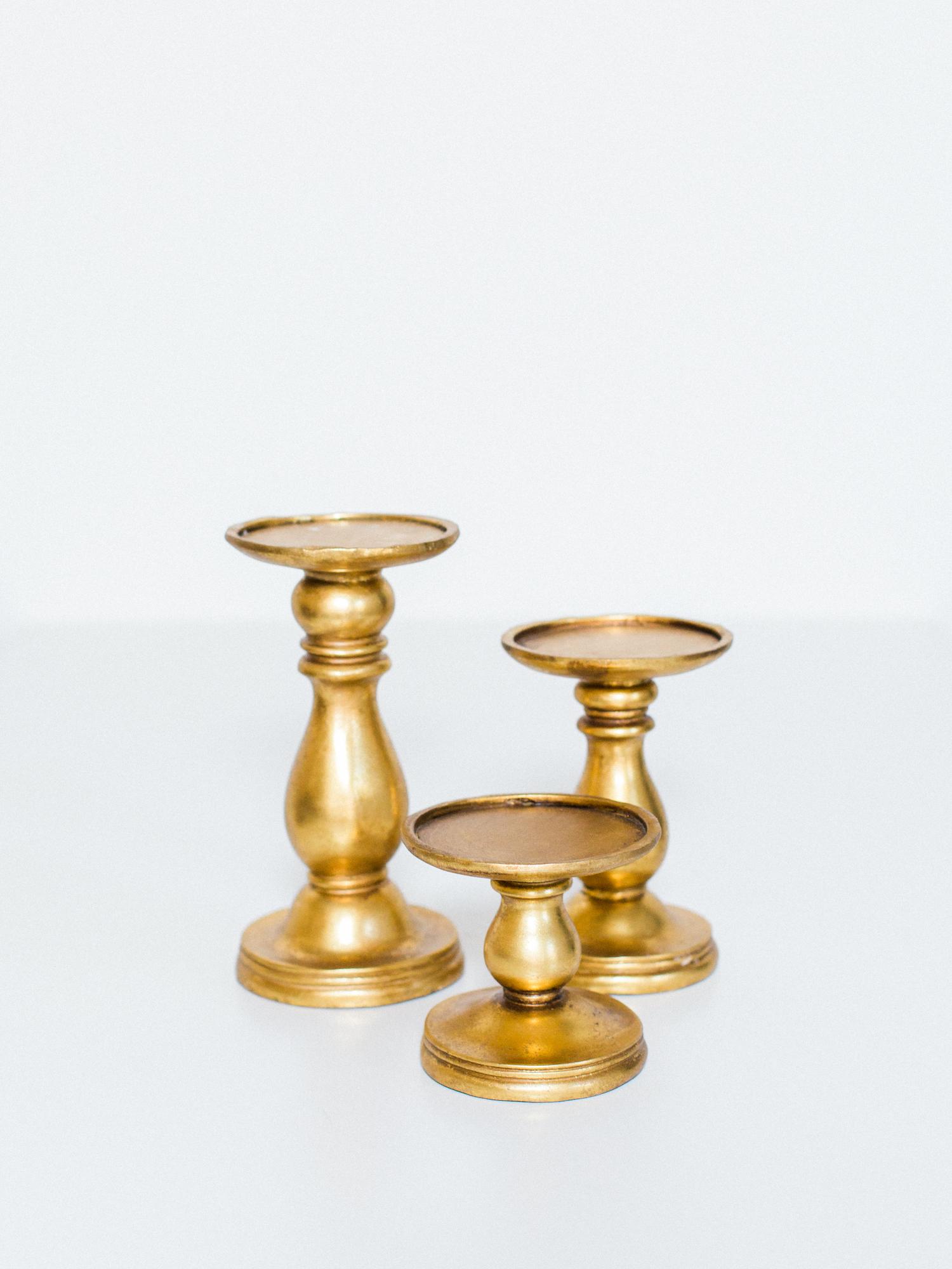 chunky gold candlesticks