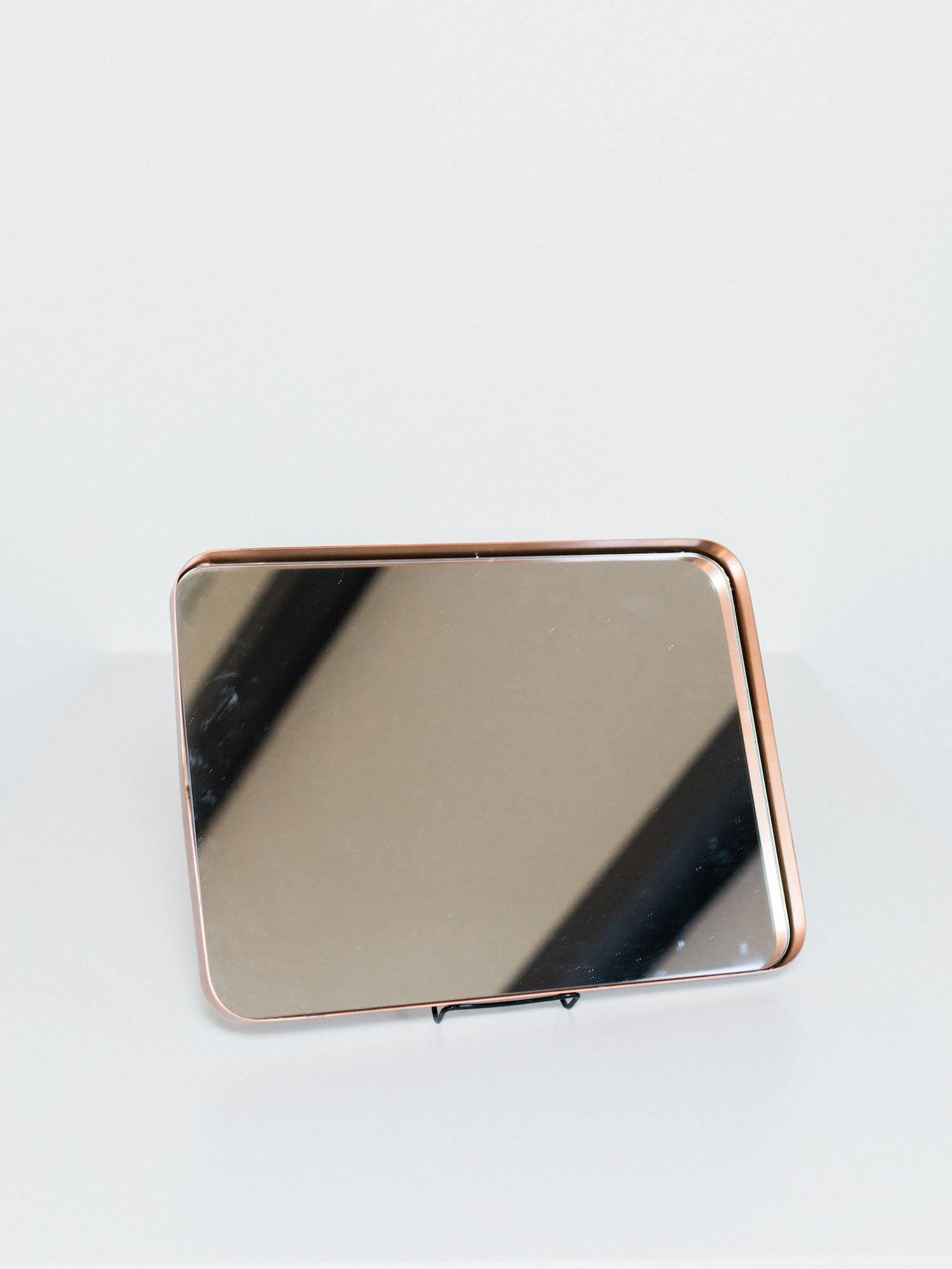 copper mirror tray
