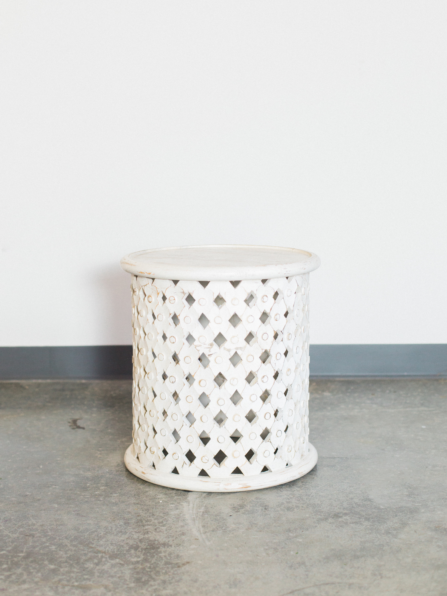 white round side table