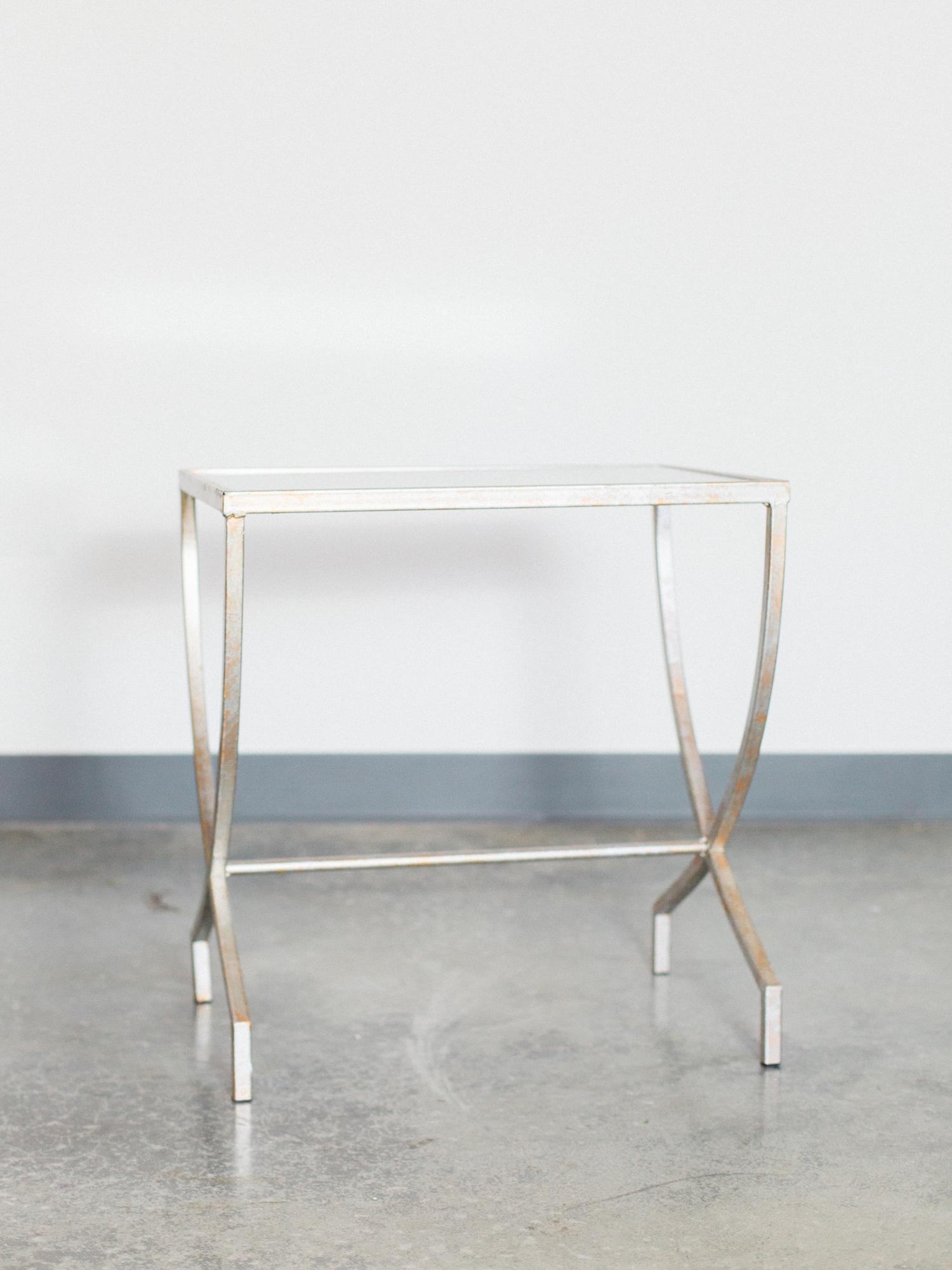 silver mirror table