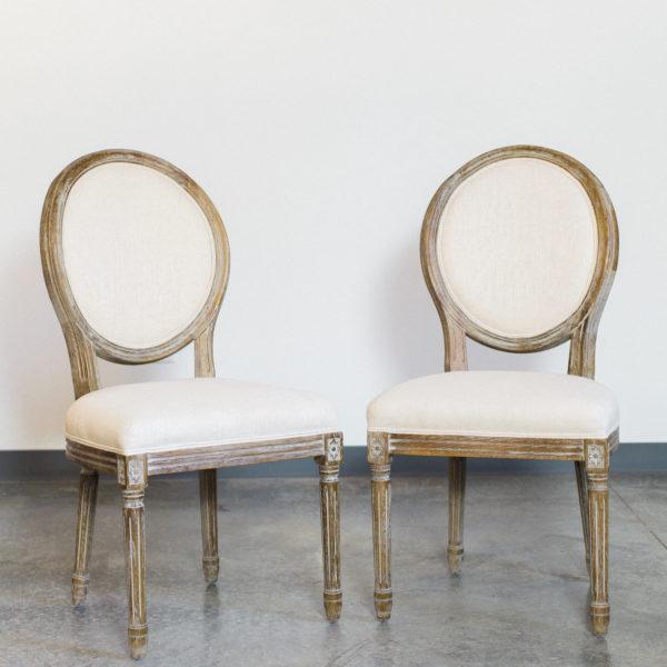 round linen chairs