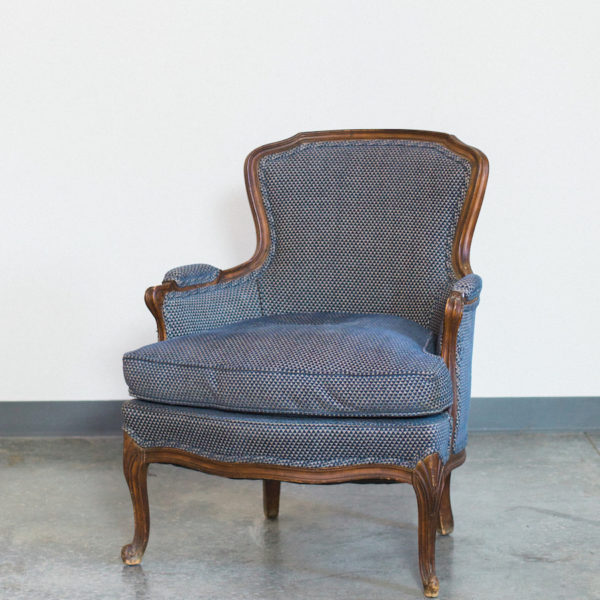 blue vintage chair