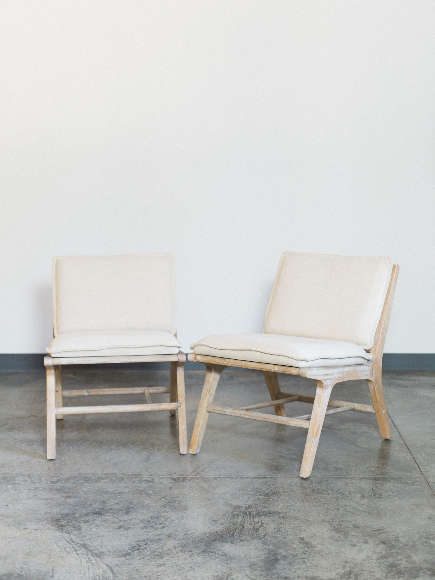 linen low chairs