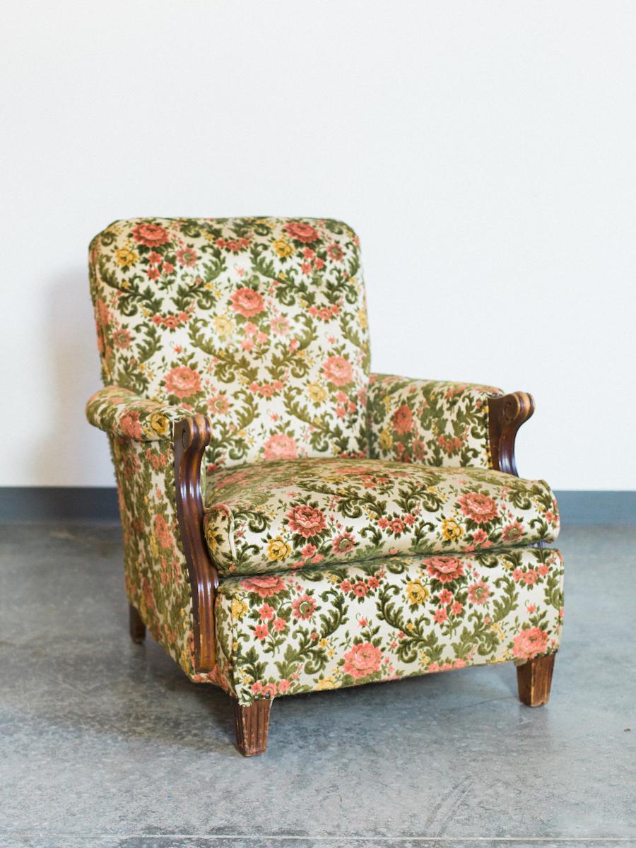 vintage floral chair