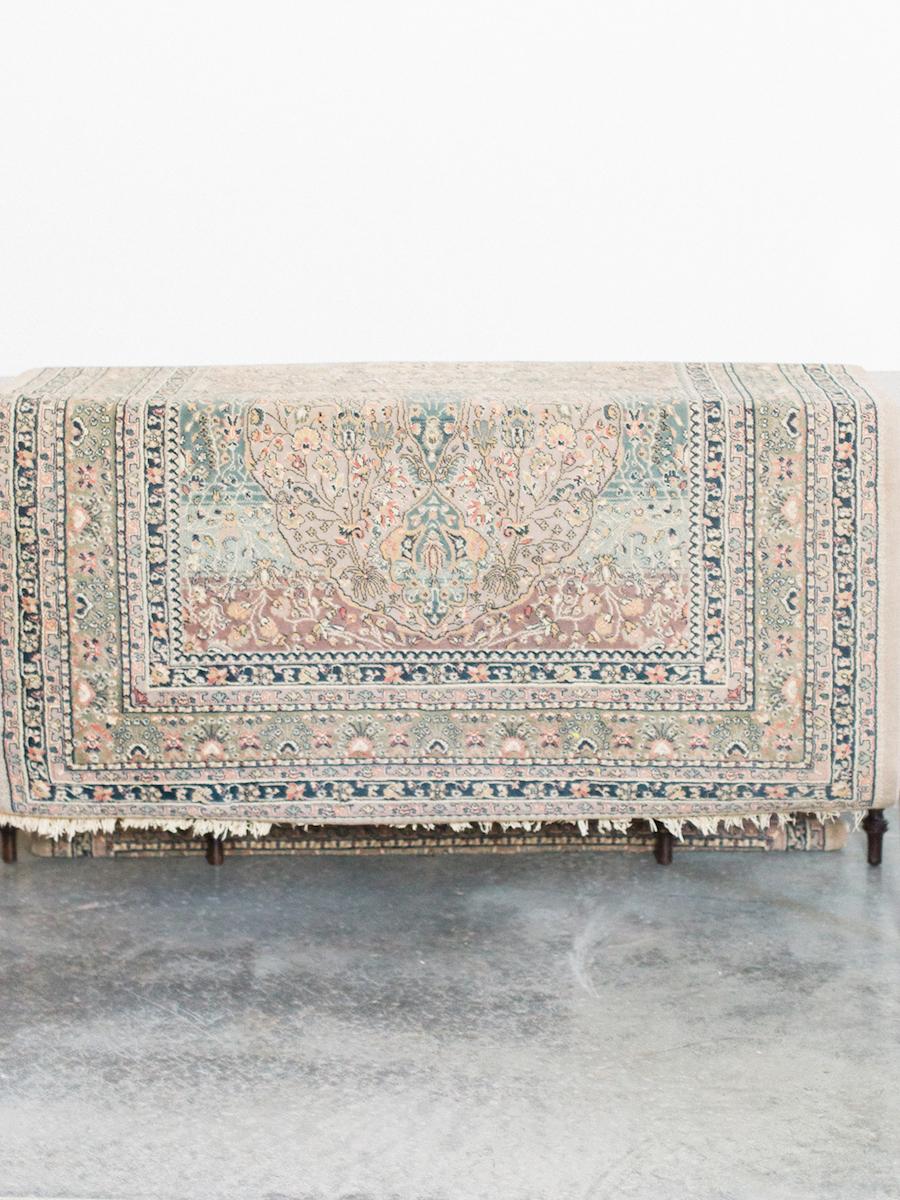 gray vintage rug