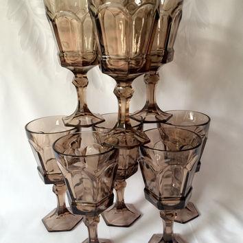 vintage gray goblets