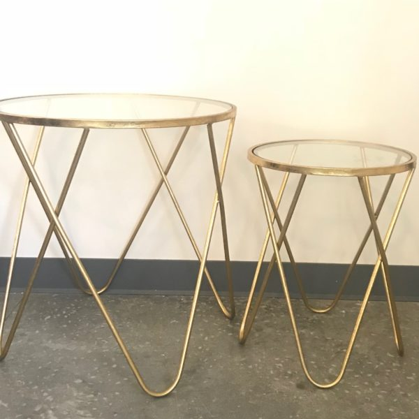 Sheila gold nesting tables
