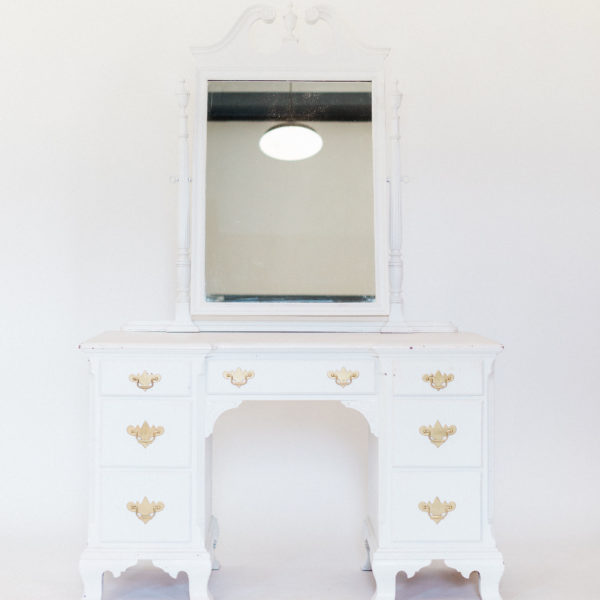 white vanity