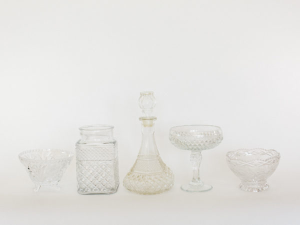 Clear Vintage Candy Jars
