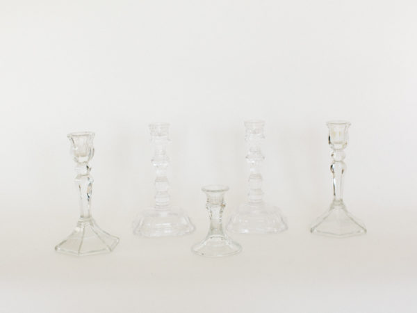 Clear Taper Candle Holders